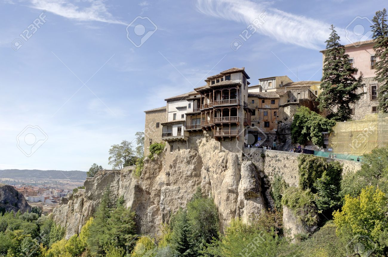 Lovely The Hanging Houses, Cuenca, Spain Stock Photo   15700183 Pictures