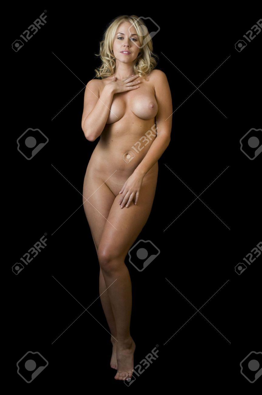 Seductive Blonde Stripper Nude Stock Photo - 8093156