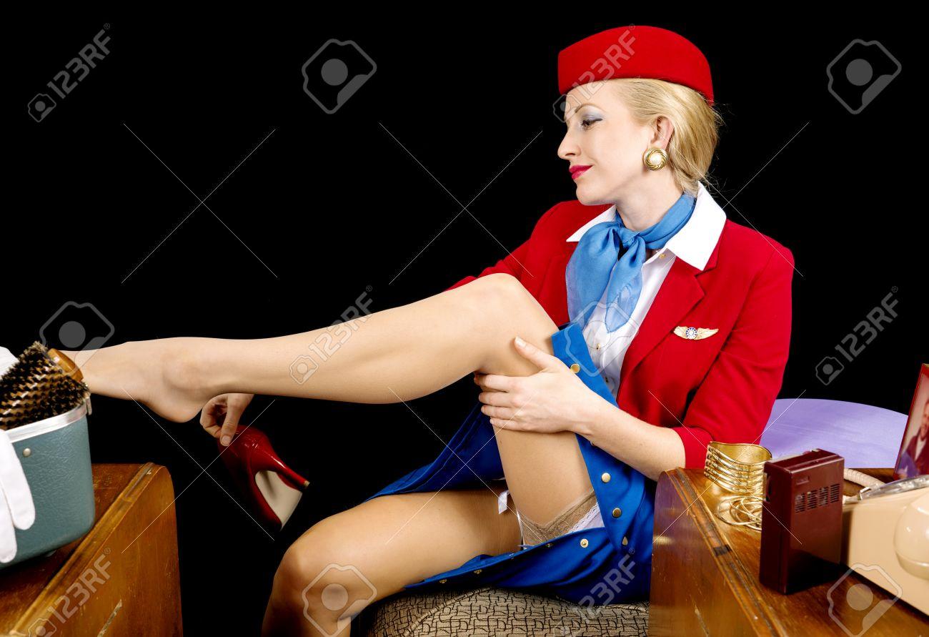 Stewardess strümpfe