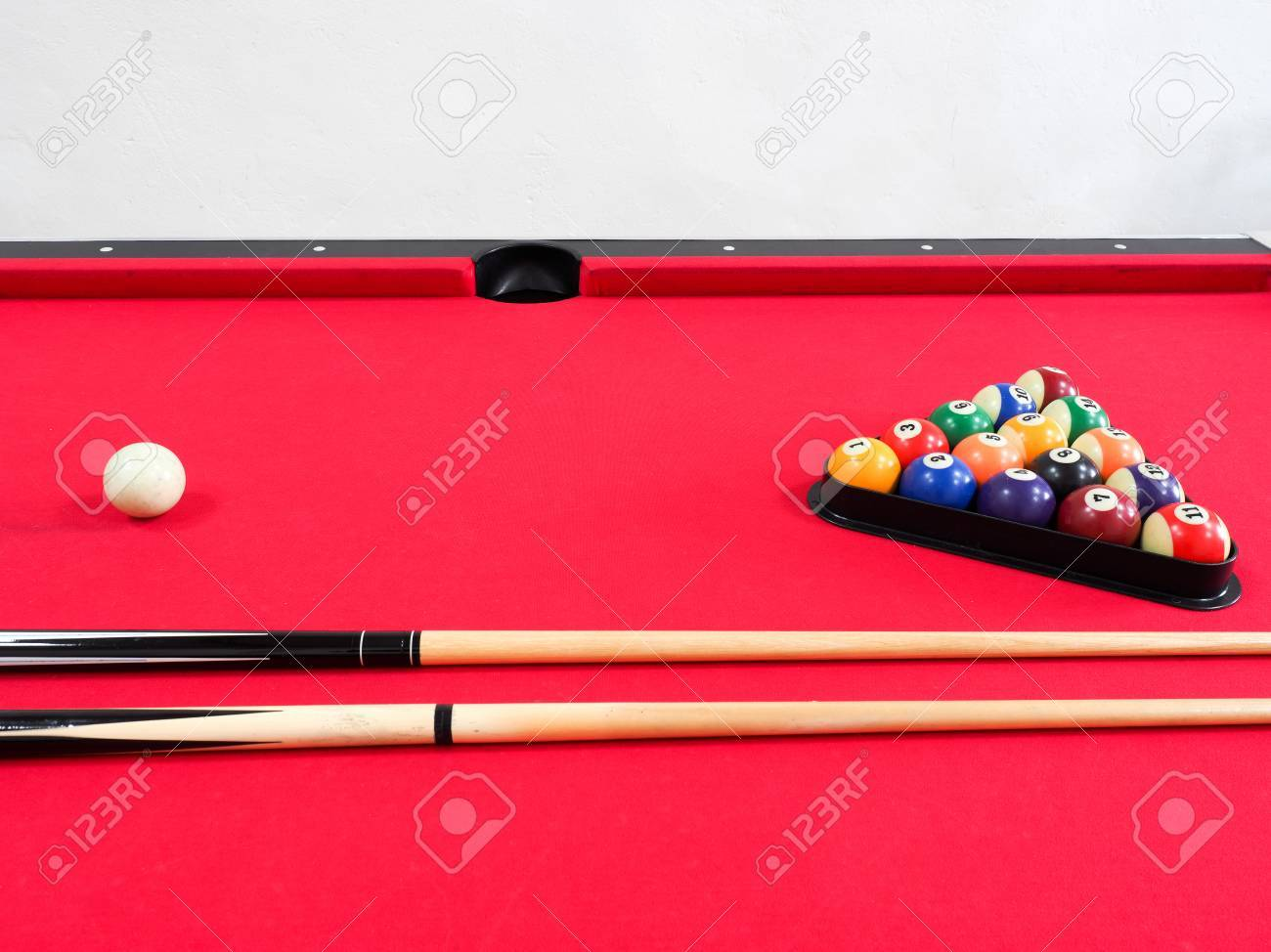 Game Of American Billiards Played On A Billiard Table For Two - Us billiards pool table