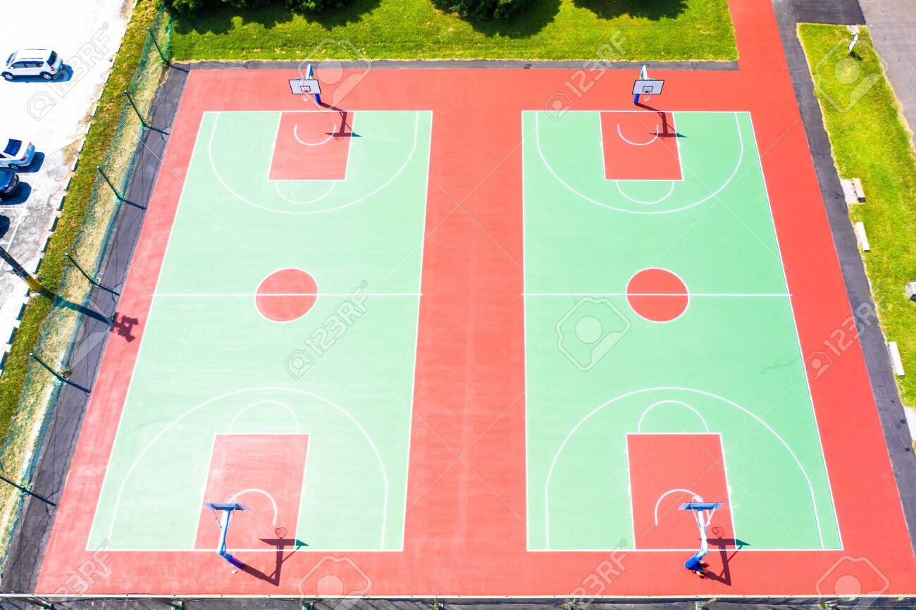 Top View Bird Eye View Basketball Courts Public Basketball Stock Photo Picture And Royalty Free Image Image 131427565