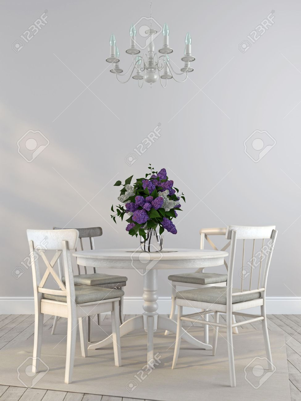 interni in stile provenzale, composta da sedie bianche squallido e ... - Tavoli Da Soggiorno Stile Provenzale