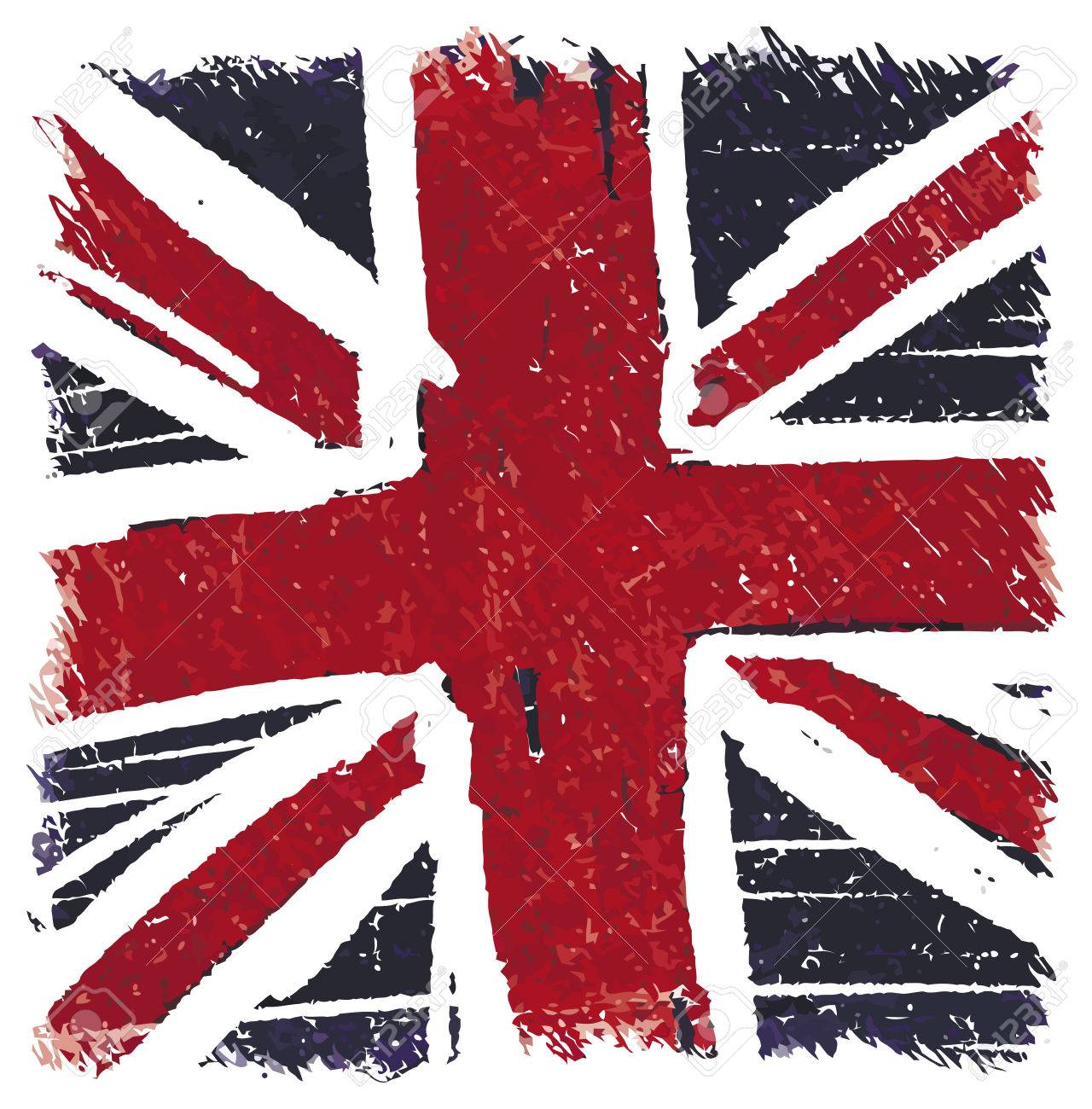 flag of united kingdom uk great britain handmade square shape