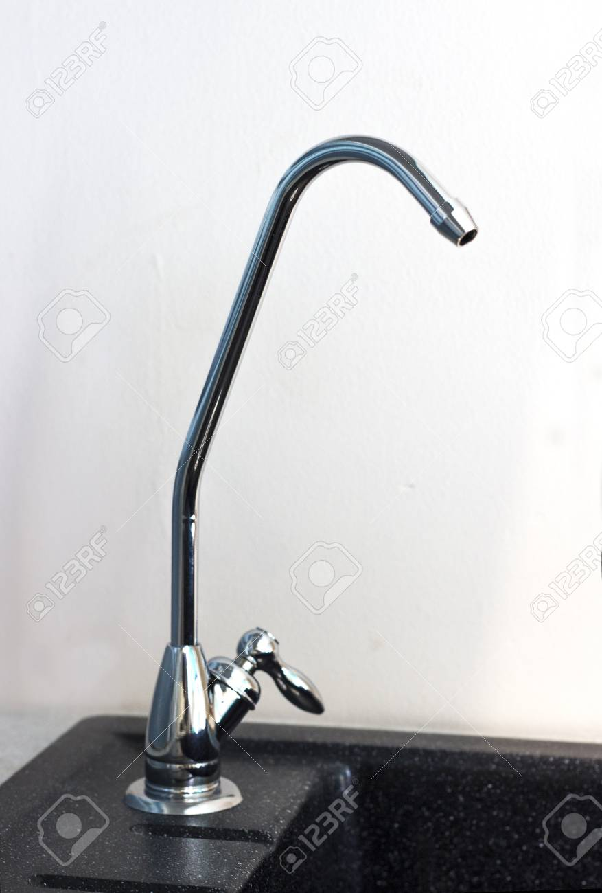 Filtered Water Faucet To Install Into A Sink For Washing Dishes ...