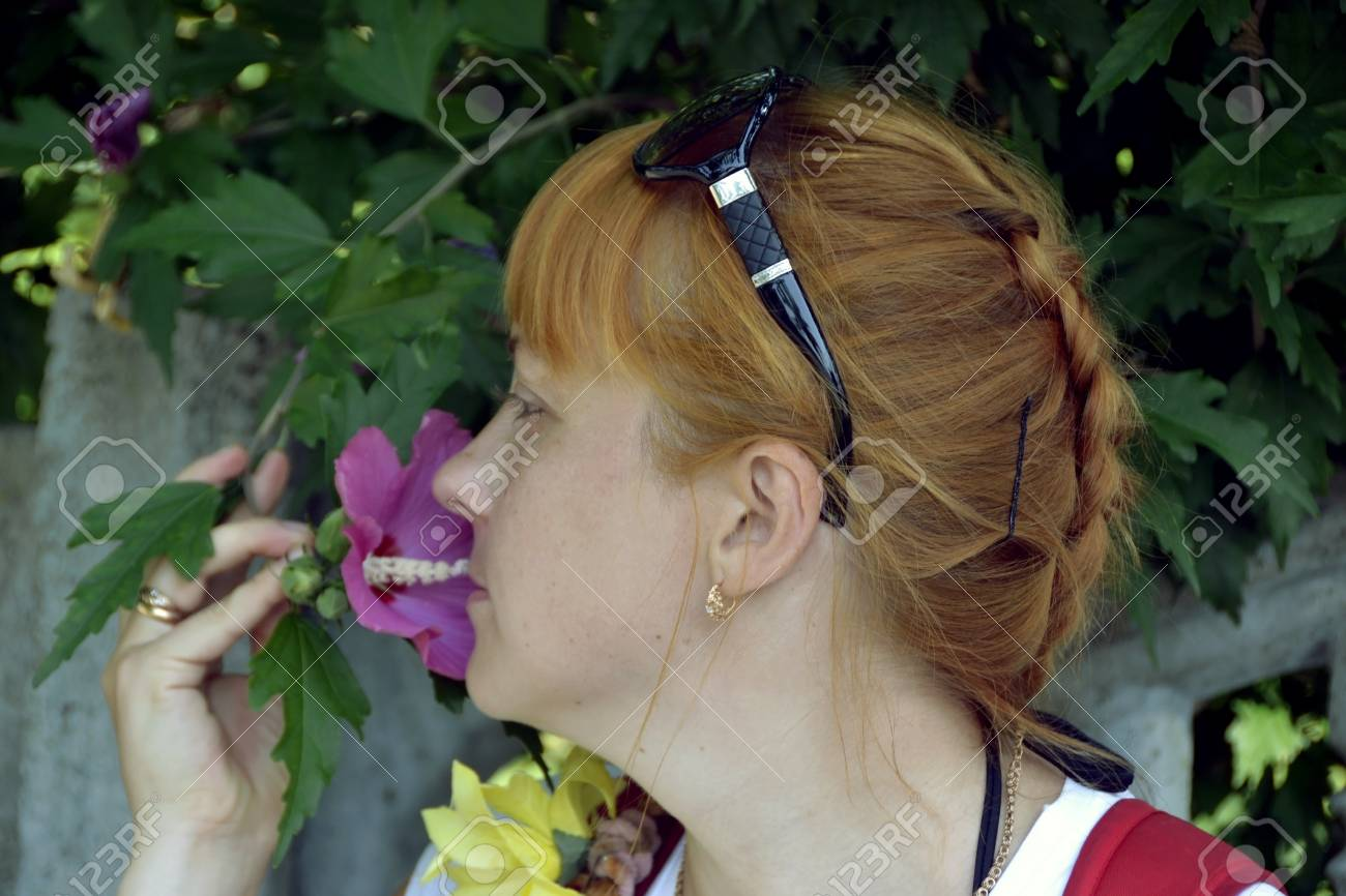 The girl in flowers Stock Photo - 14919831