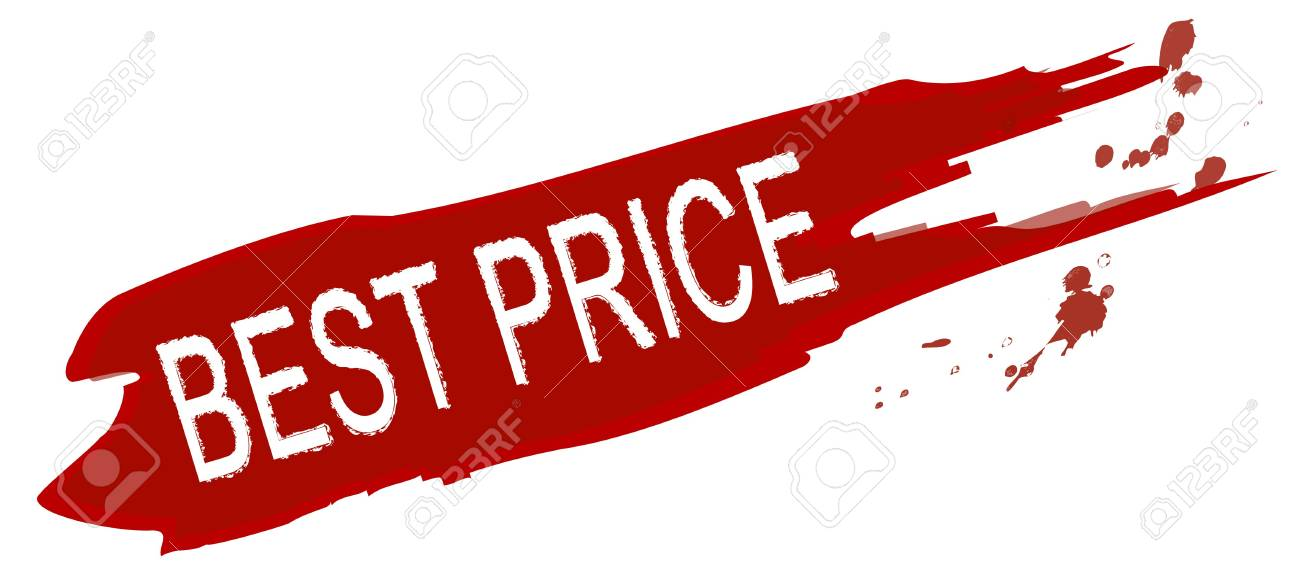 An illustrated splash of color marked with best price. All on white background. Stock Photo - 6293378