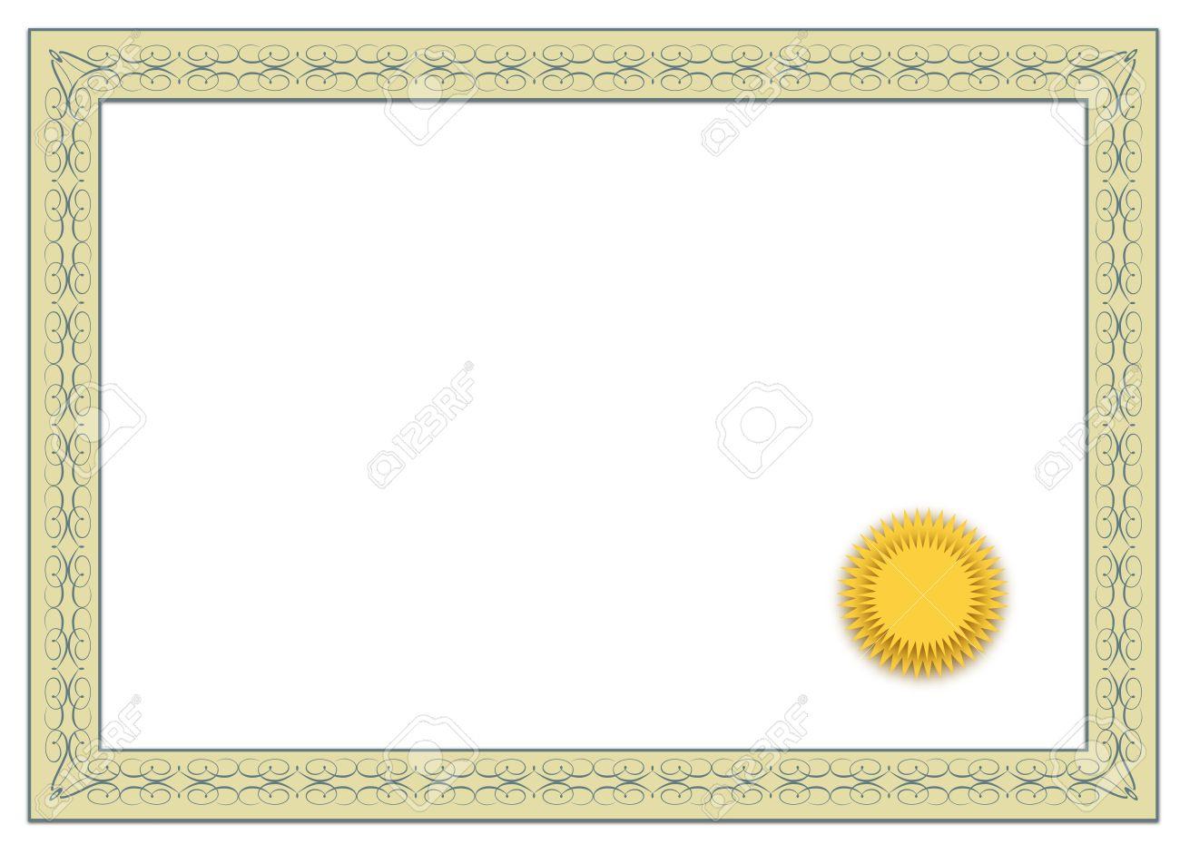 Un Marco Simple De Un Diploma Típico. Todos Aislados Sobre Fondo ...