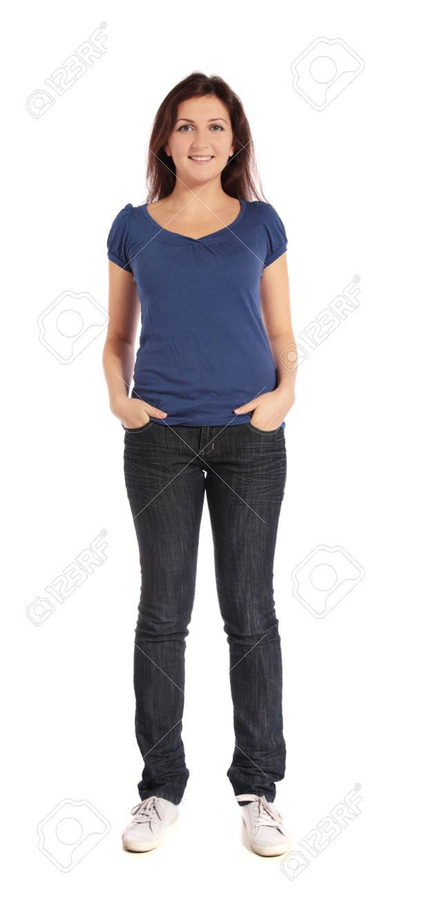 Attractive young woman standing Stock Photo - 7864926