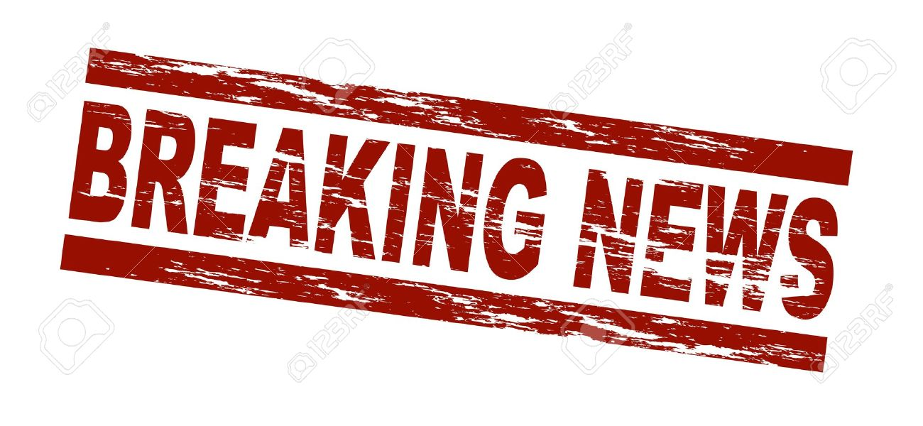 Stylized red stamp showing the term breaking news. All on white background. Stock Photo - 8433659