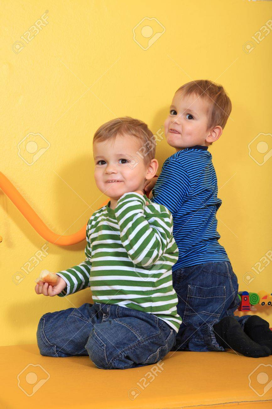 Cute european toddlers in kindergarten. Stock Photo - 8565194