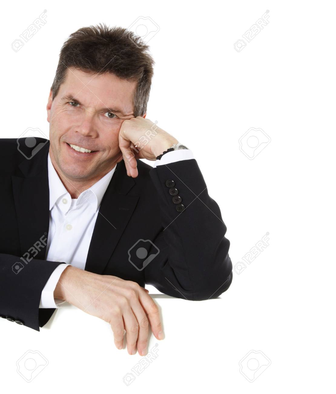 Attractive middle-aged man. All on white background. Stock Photo - 8824745