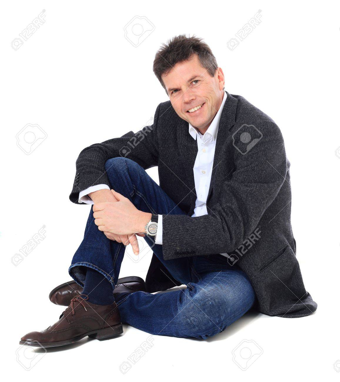 Attractive middle-aged man. All on white background. Stock Photo - 8824934