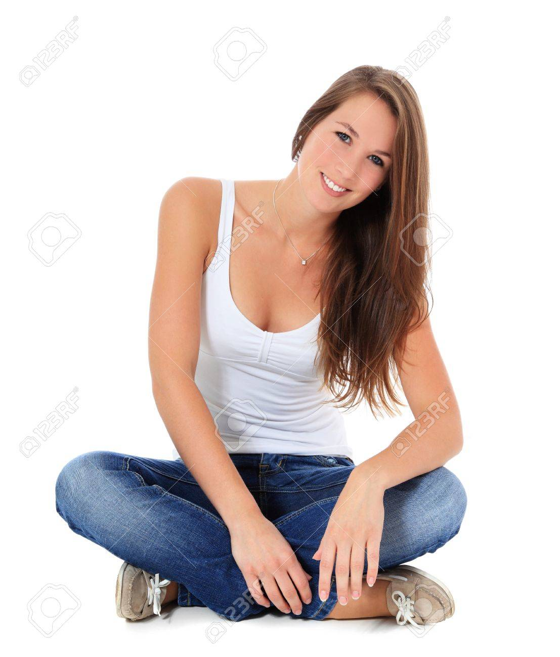 Attractive young woman. All on white background. Stock Photo - 10160195