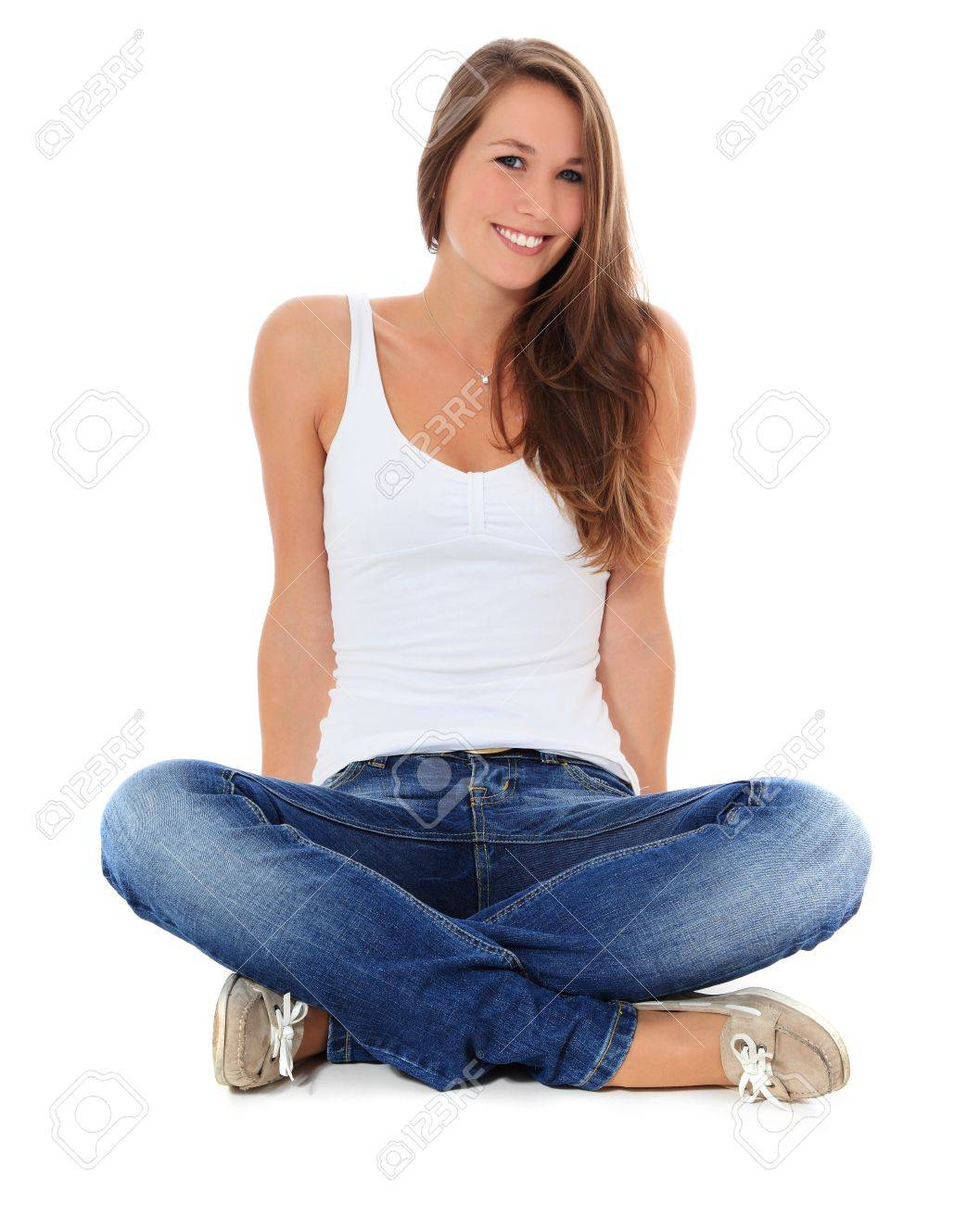 Attractive young woman. All on white background. Stock Photo - 10160197