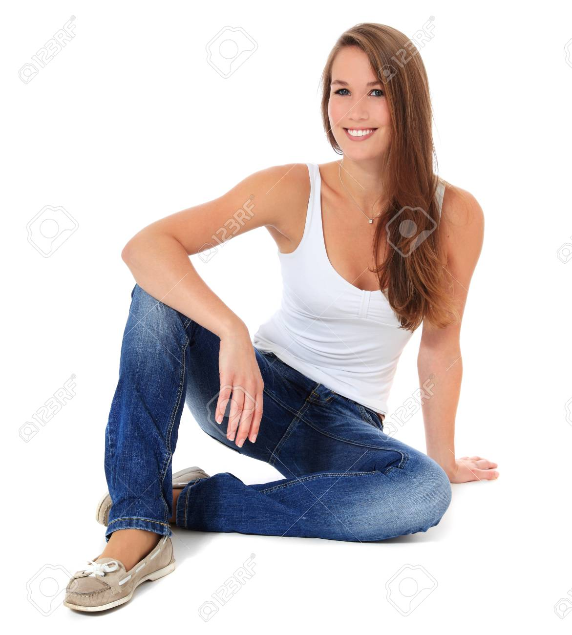 Attractive young woman. All on white background. Stock Photo - 10118720