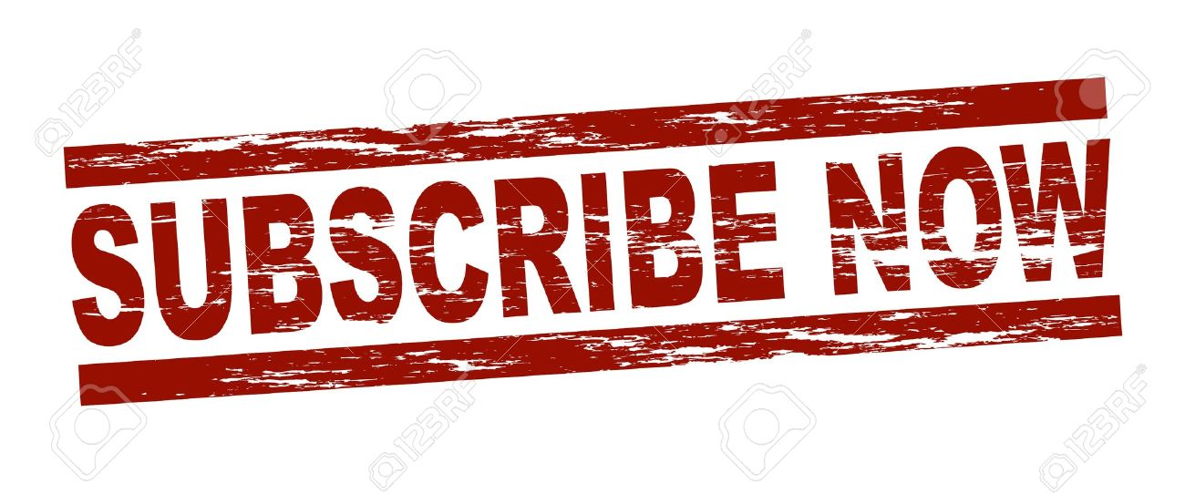 Stylized red stamp showing the term subscribe now. All on white background. Stock Photo - 12052554