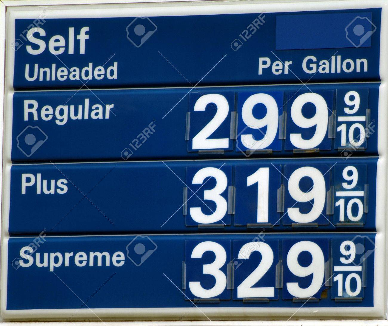 Gas prices above just below 3 dollars per gallon in the United