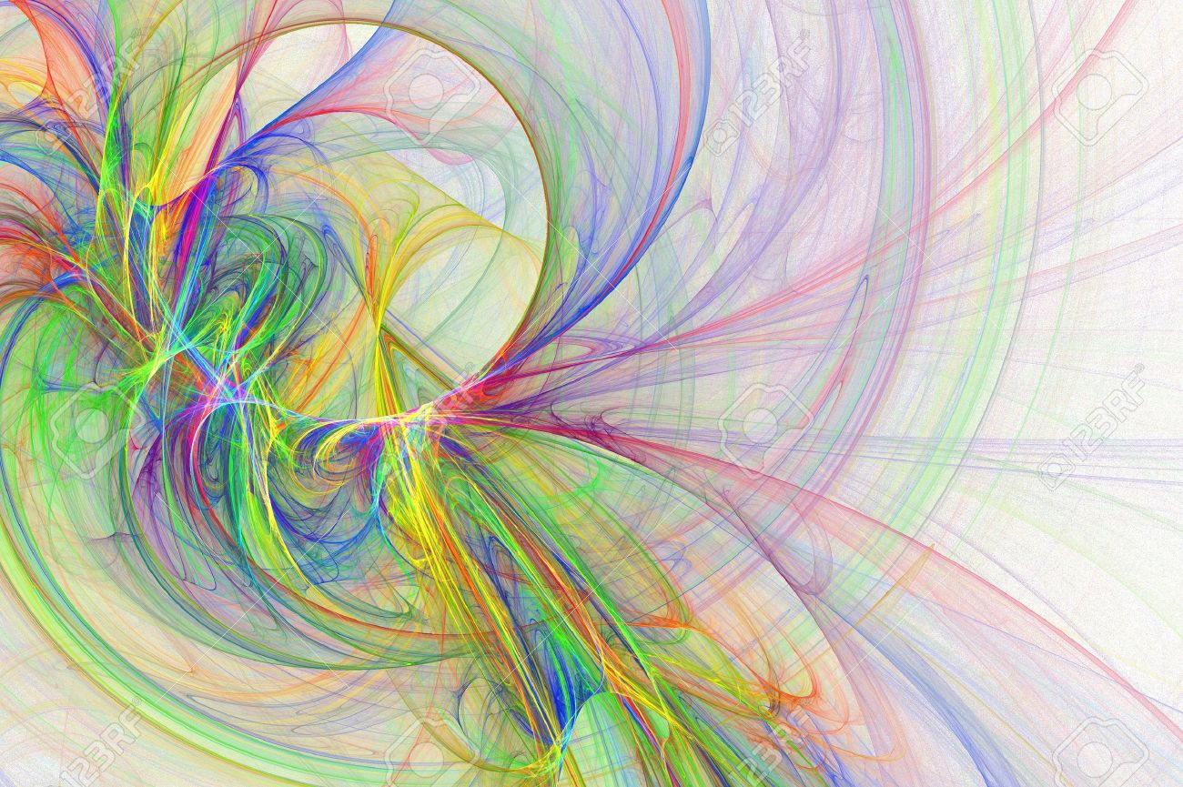 abstract fun cheerful artsy rainbow backgrounds design stock photo