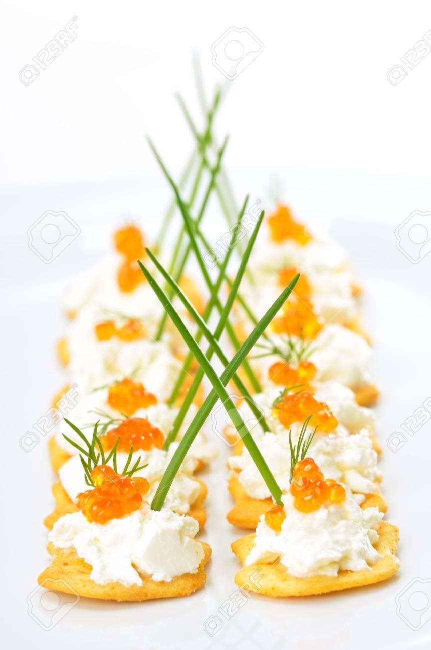 Tidbits with caviar Stock Photo - 13090479