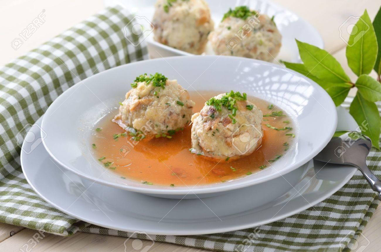 Délicieux bavarois lard soupe de boulette Banque d'images - 14916229