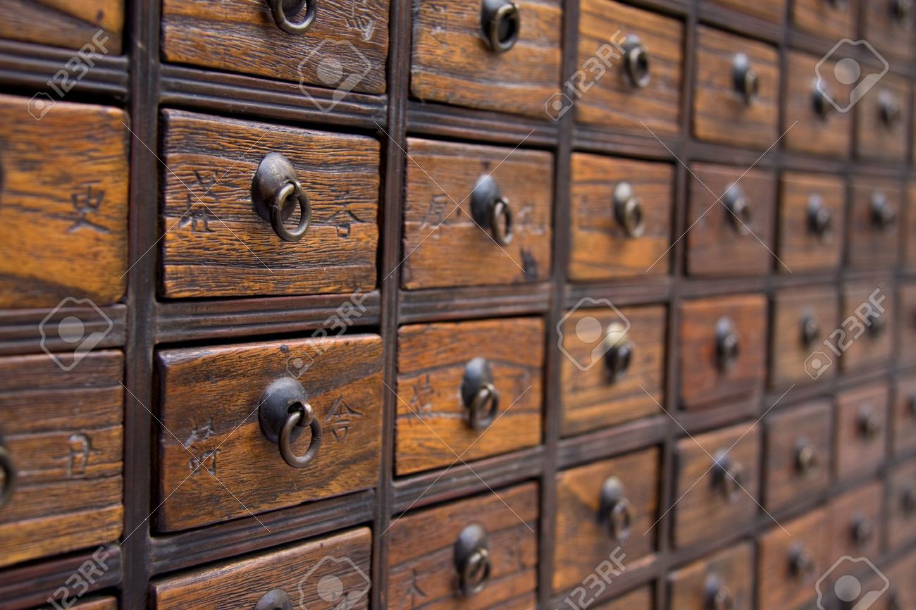 Antique Chinese Medicine Chest Stock Photo, Picture And Royalty ...
