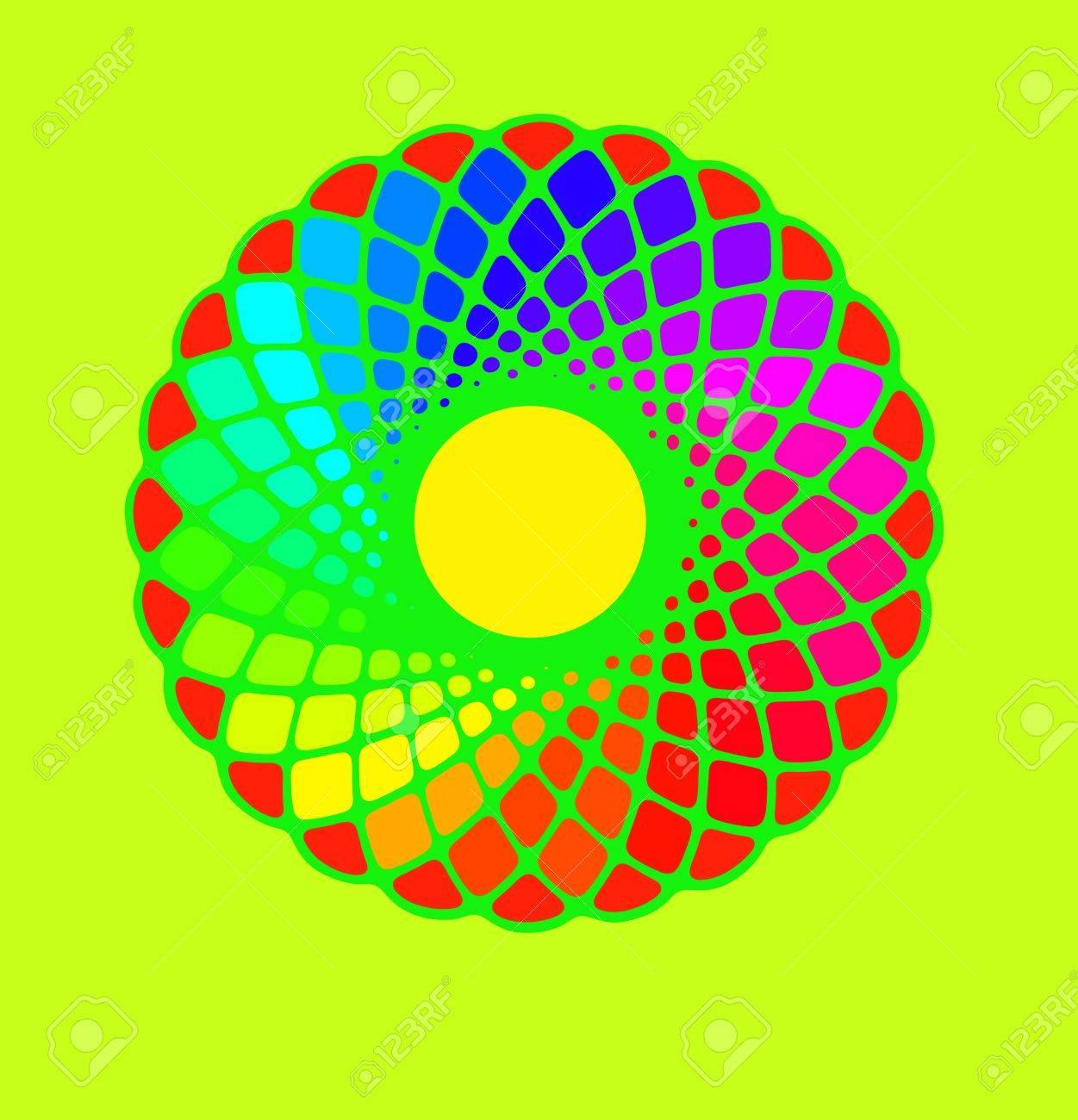 Image De Dessin A La Main Et Numerique Cercle Colore Fond Arc En