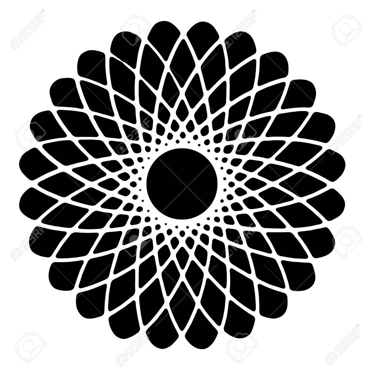 Image De Dessin A La Main Et Le Cercle Numerique Avec L Illusion De