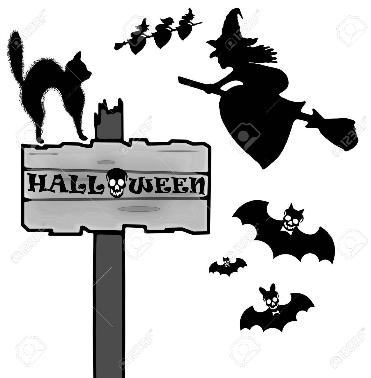 Halloween sign and icon Stock Photo - 22612236