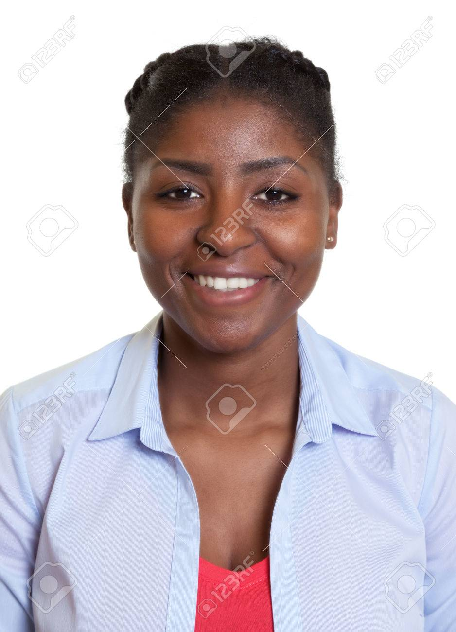 Passport picture of a young african woman - 44371661