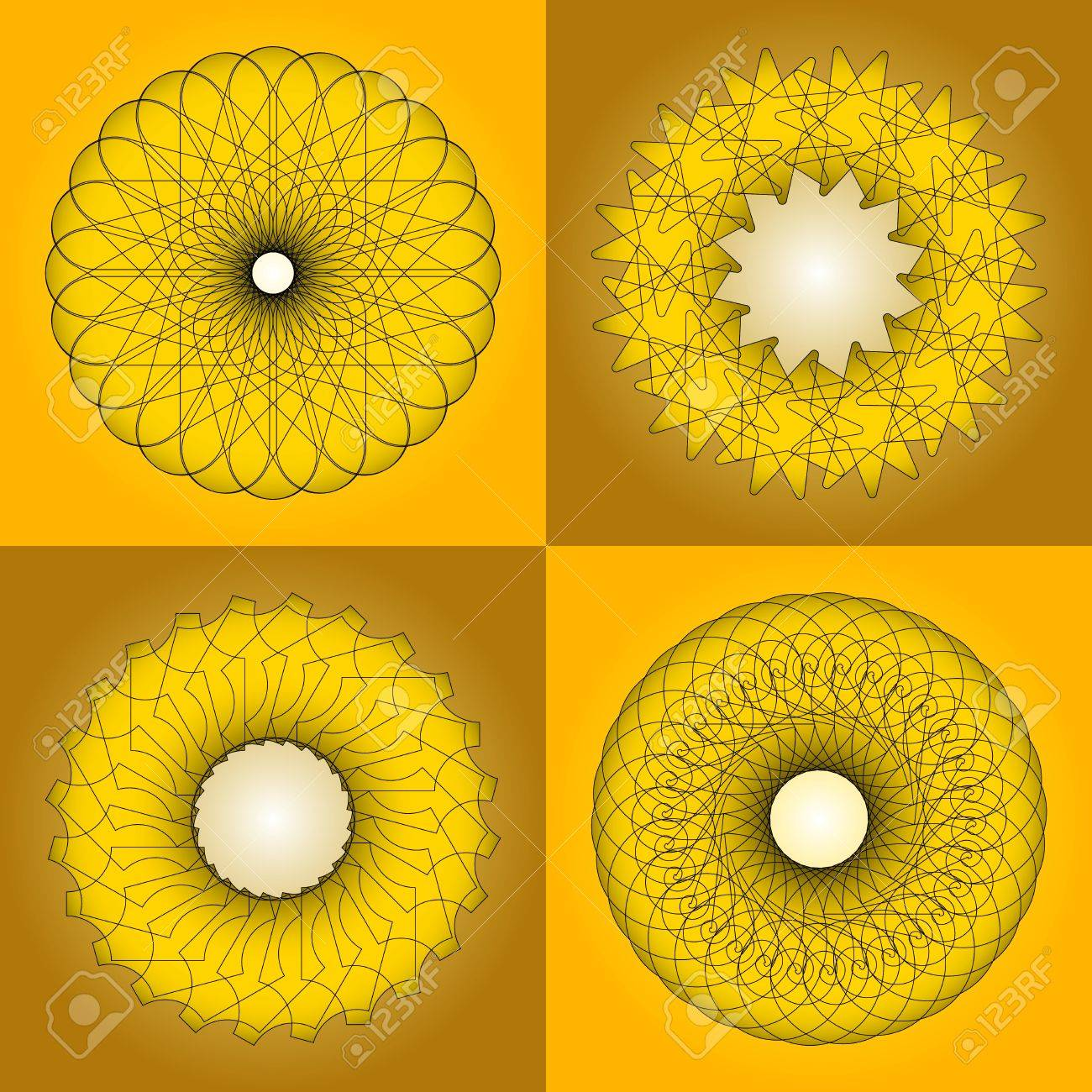graceful forms of gypseous finishes Stock Vector - 20365194