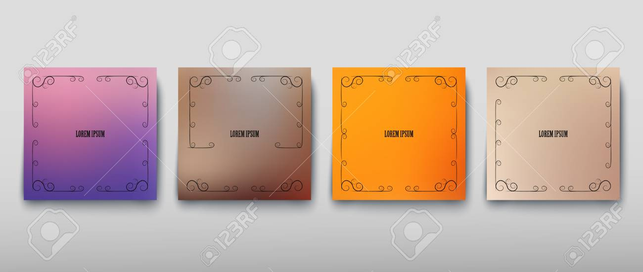 Cover paper sheet color with blurred background and an abstract graphic pattern. Vector illustration - 111911030