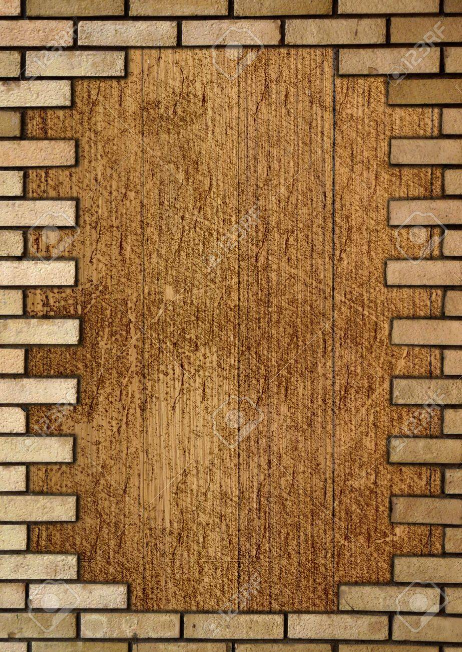 Brick wall in the frame Stock Photo - 21675483