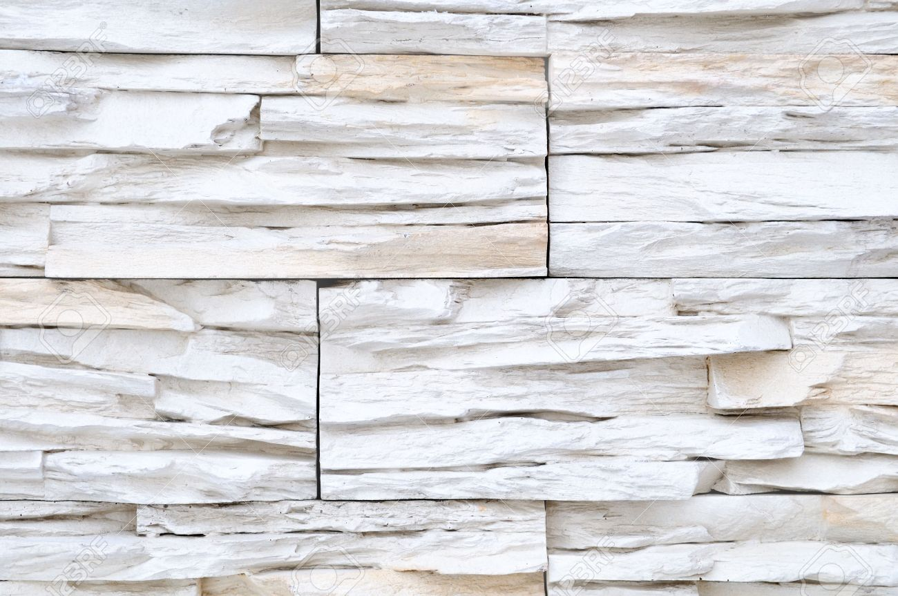 White Brick Stone Exterior And Interior Decoration Building Material For  Wall Finishing Stock Photo   6504332