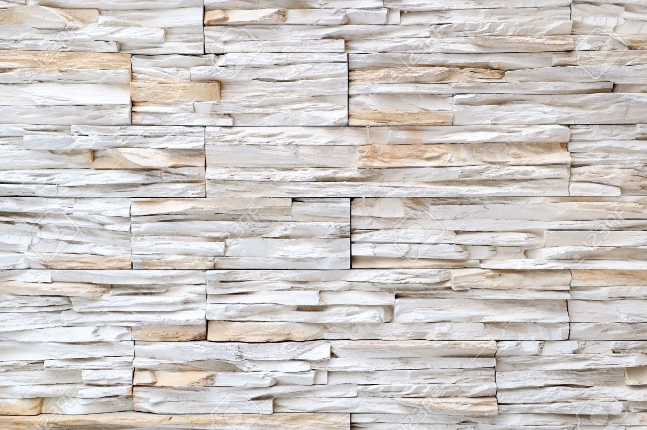 Superb Stock Photo   Yellow White Brick Stone Exterior And Interior Decoration  Building Material For Wall Finishing