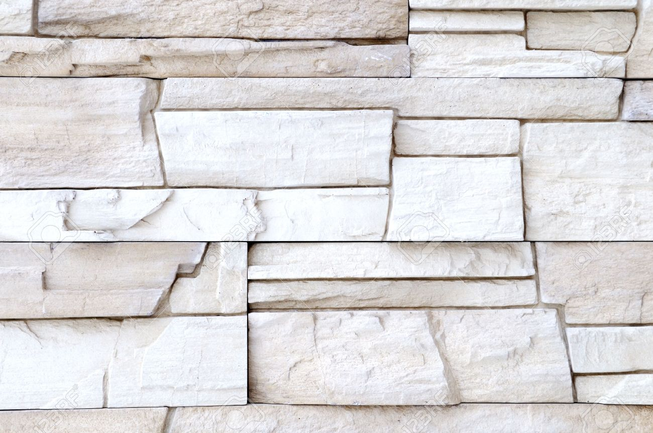 White Brick Stone Exterior And Interior Decoration Building Material For  Wall Finishing Stock Photo   6504345