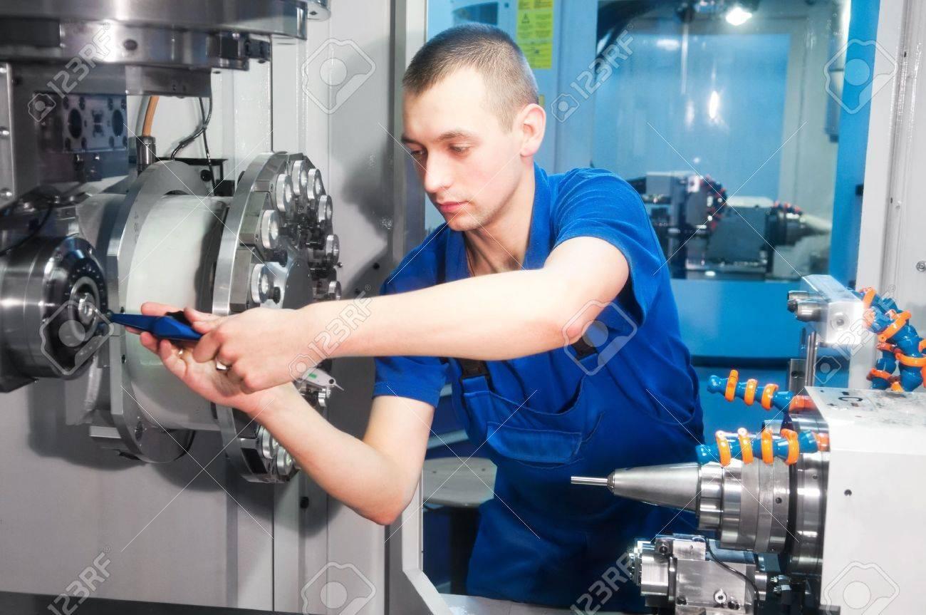Mechanical Technician Operative Of Cnc Milling Cutting Machine ...