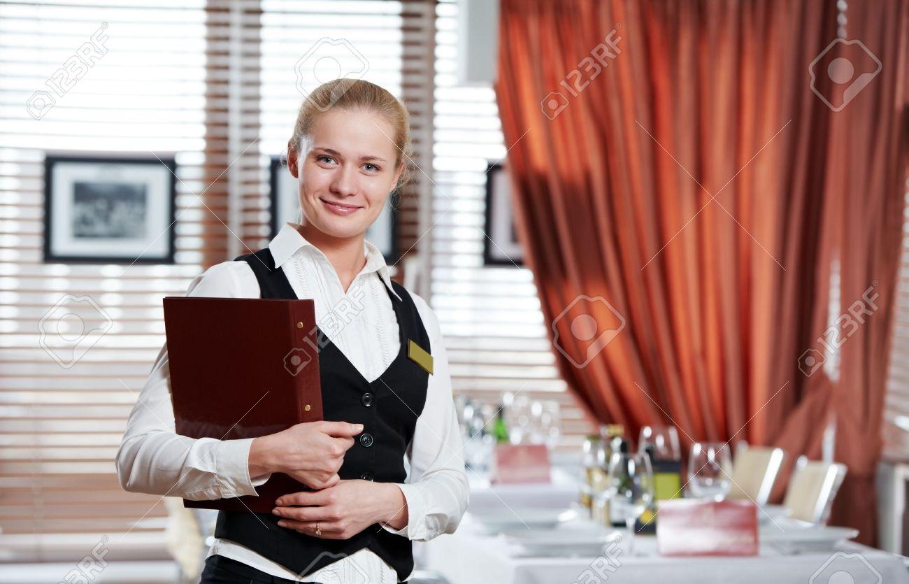 femme de gérant du restaurant au lieu de travail Banque d'images - 9920642