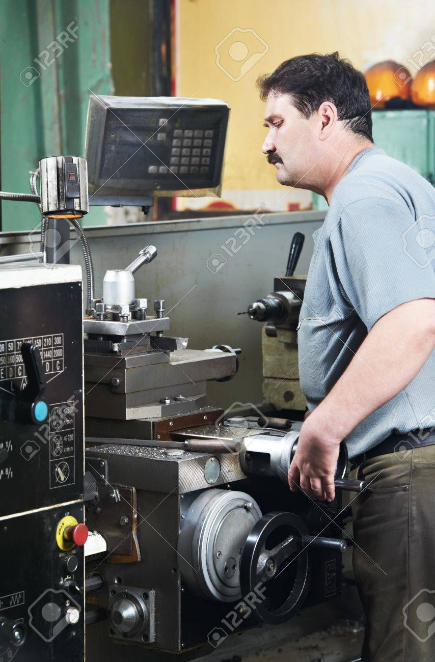 worker at machining tool workshop Stock Photo - 10378426