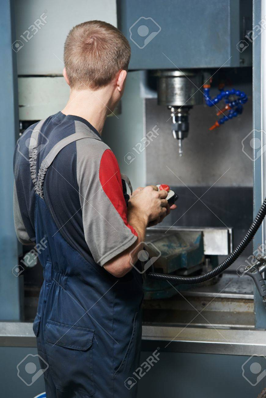 worker at machining tool workshop Stock Photo - 10378427