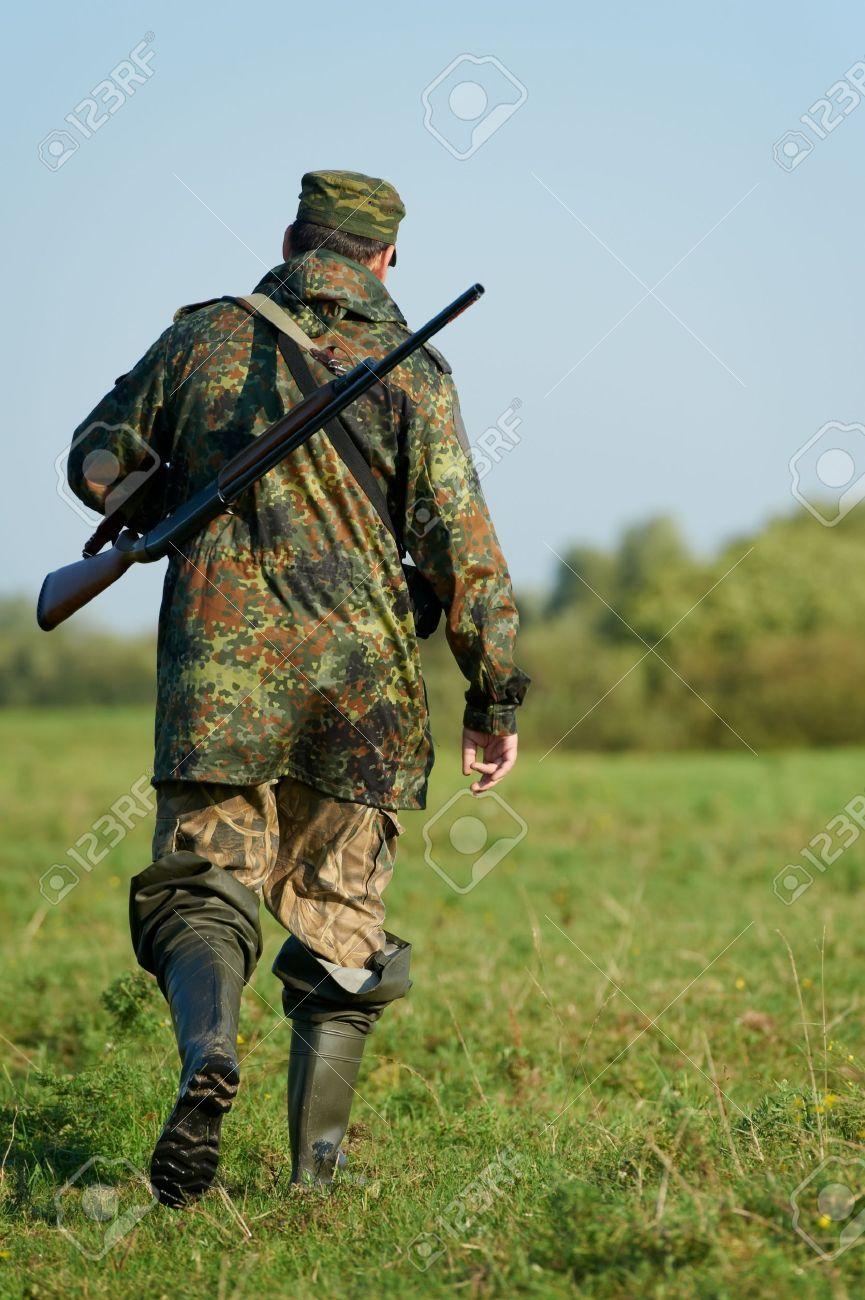 охотник с ружьем фото