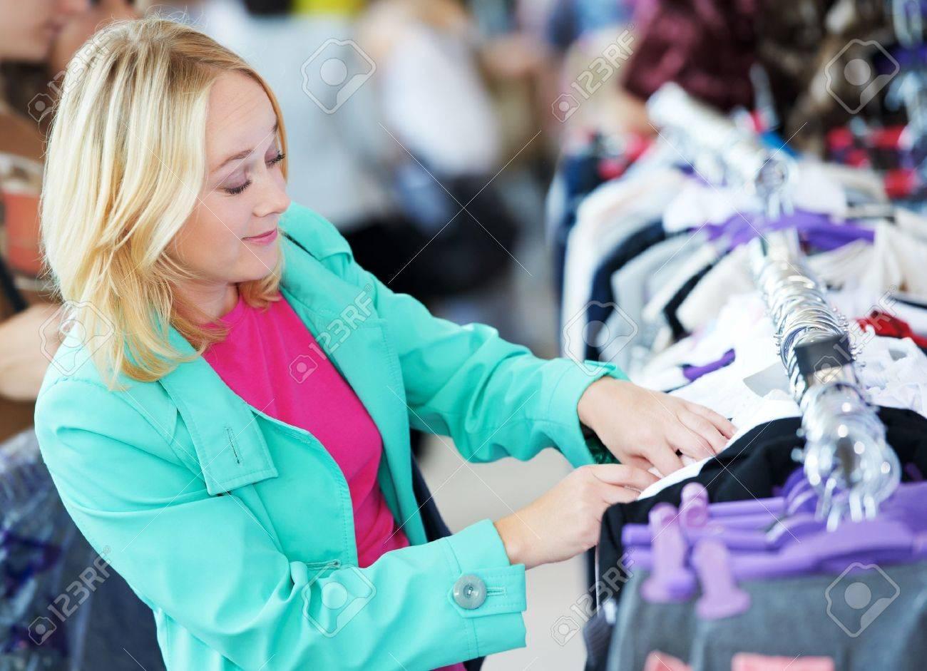 Young woman at shop Stock Photo - 10697954