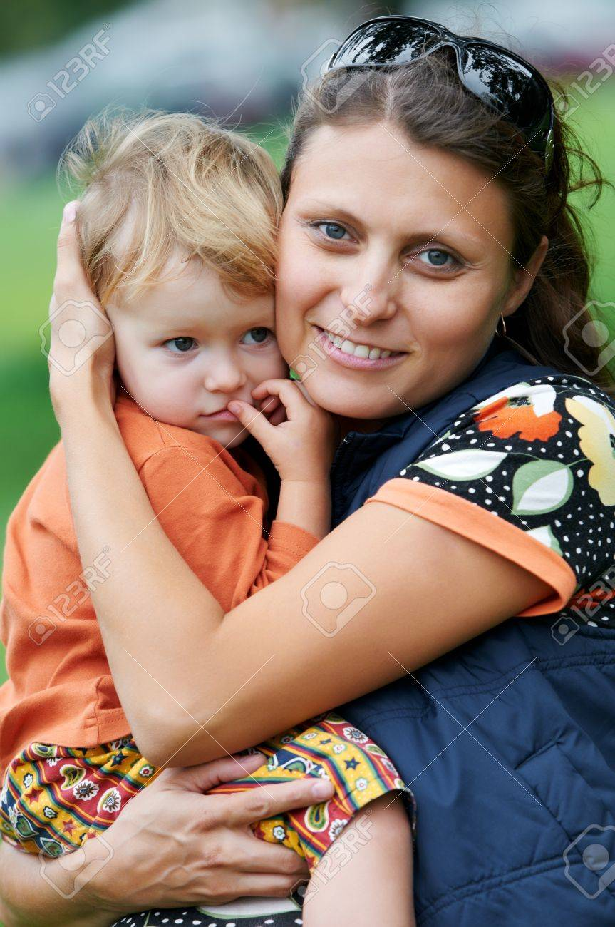 Mother and child in her hands Stock Photo - 10698171