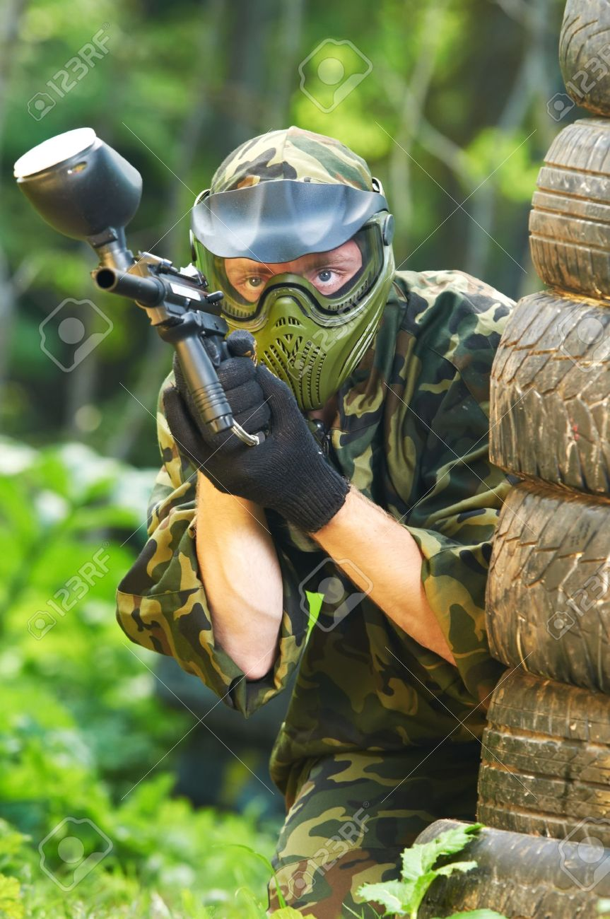 paintball player Stock Photo - 10697946