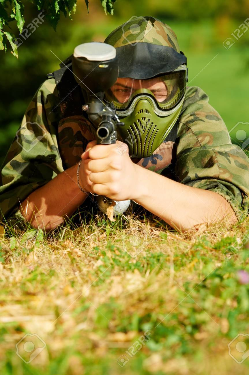 paintball player Stock Photo - 10697827