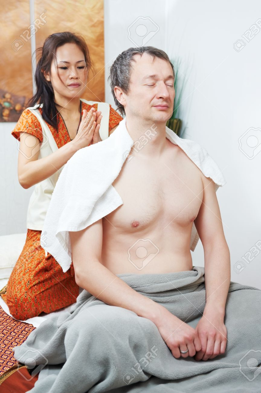Traditional thai massage health care back kneading Stock Photo - 12283512