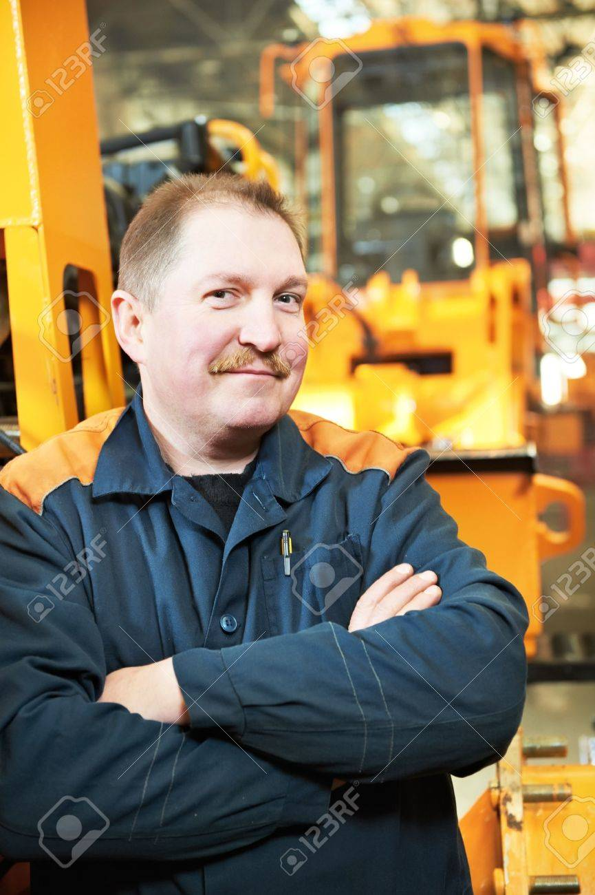 Portrait of experienced industrial fitter Stock Photo - 13097082