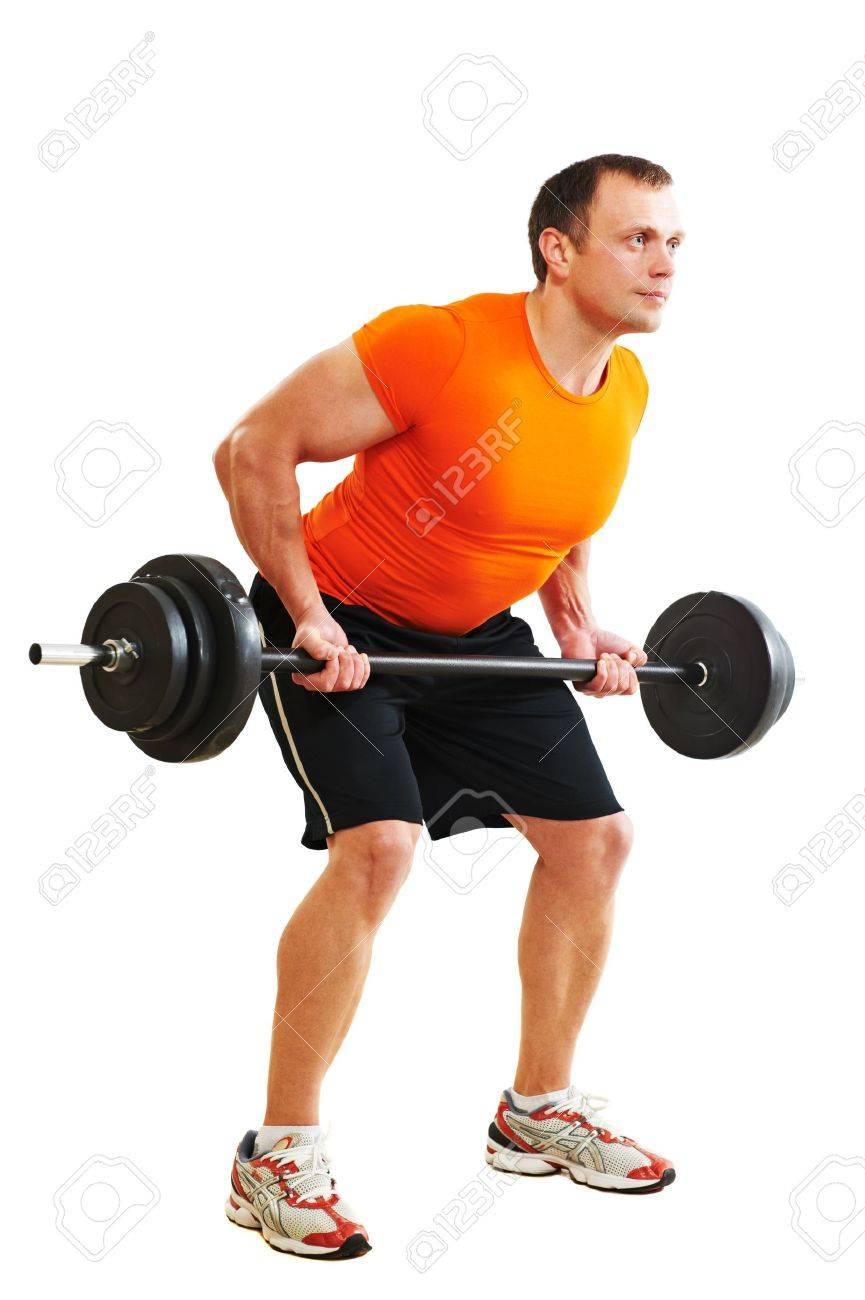 bodybuilder man doing muscle exercises Stock Photo - 13293574