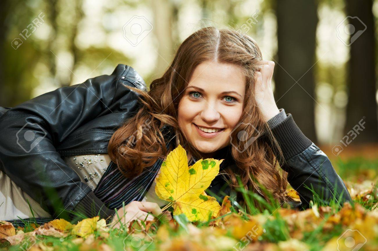 Woman at autumn outdoors Stock Photo - 14937866