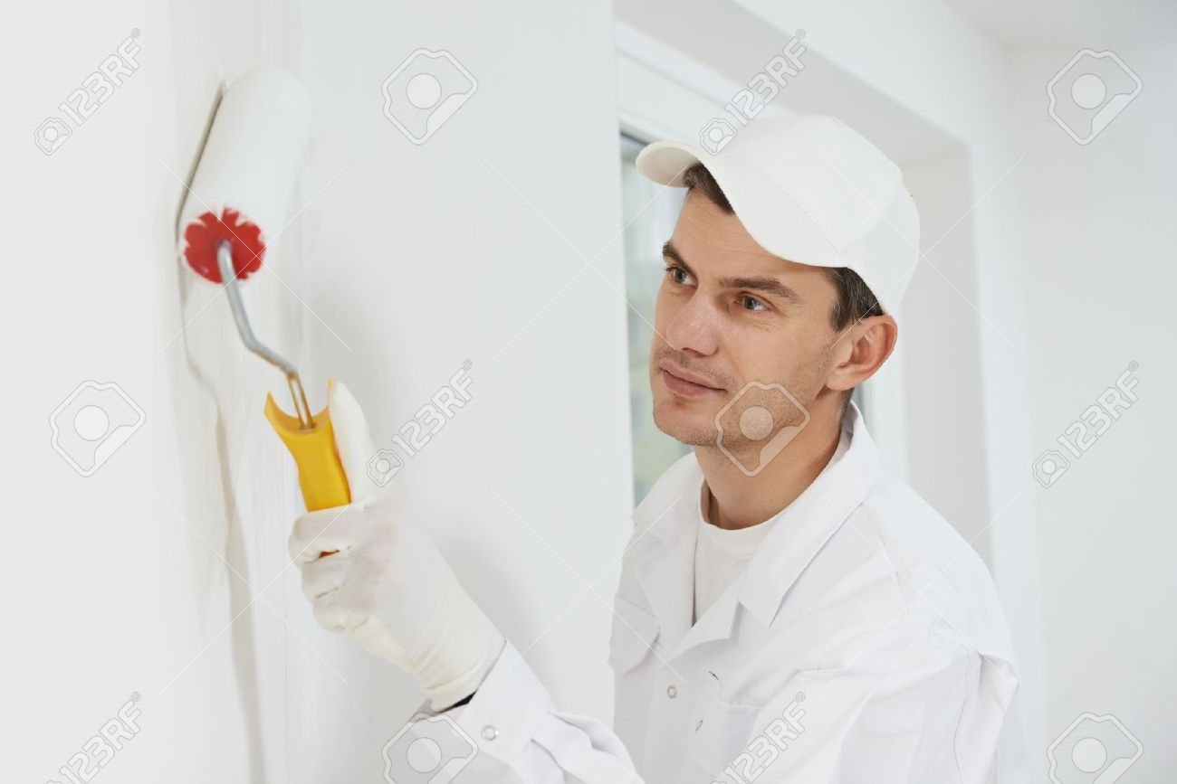 house painter at work Stock Photo - 15973845
