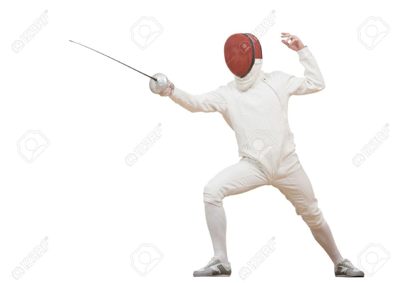 Fencer with rapier foil Stock Photo - 17411870